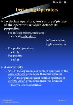 declaring operators