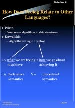 how does prolog relate to other languages