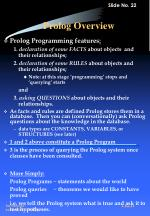 prolog overview