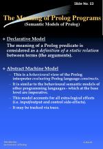 the meaning of prolog programs semantic models of prolog