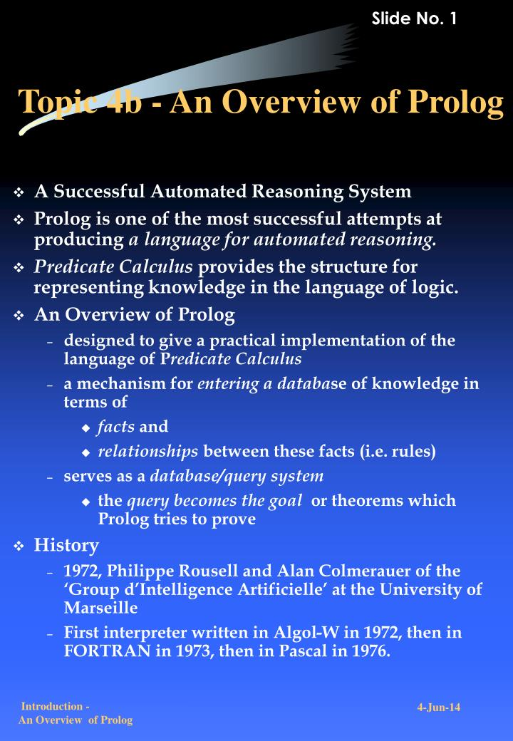 topic 4b an overview of prolog n.