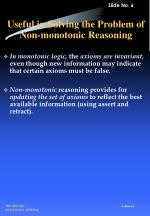 useful in solving the problem of non monotonic reasoning