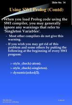 using swi prolog contd3