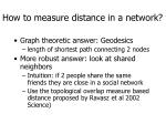 how to measure distance in a network