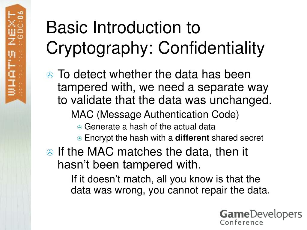 Basic Introduction to Cryptography: Confidentiality