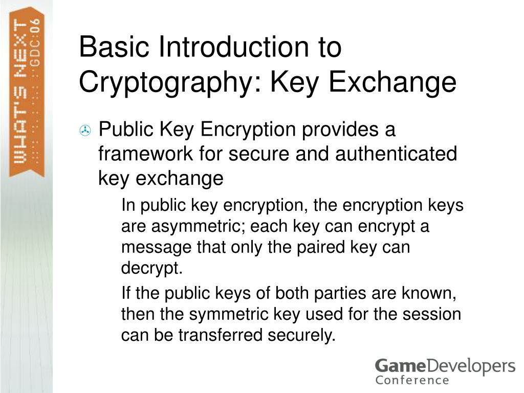 Basic Introduction to Cryptography: Key Exchange