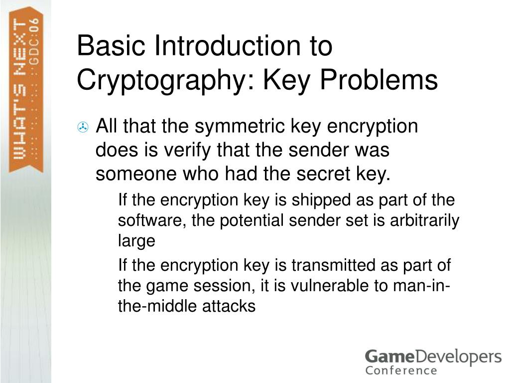 Basic Introduction to Cryptography: Key Problems