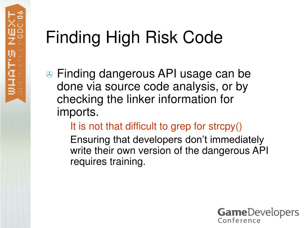 Finding High Risk Code