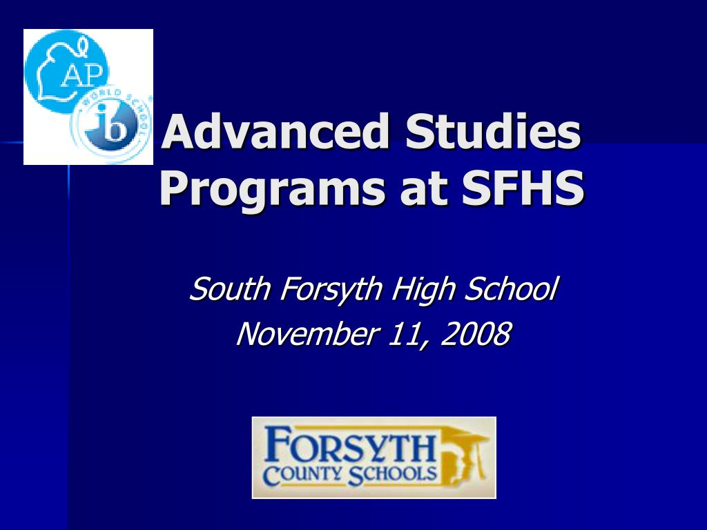 advanced studies programs at sfhs l.