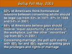 gallup poll may 2003