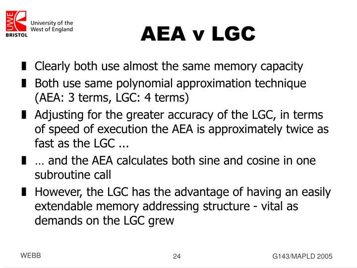 AEA v LGC