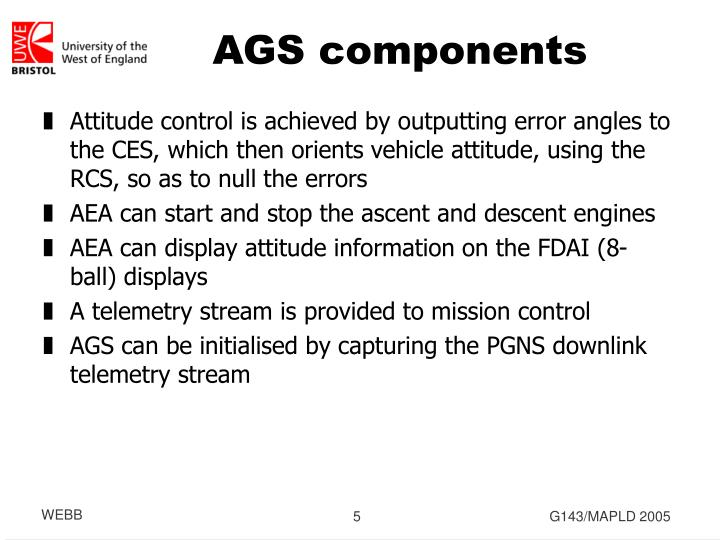 AGS components