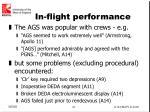 in flight performance
