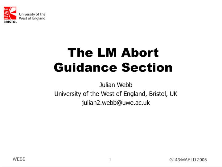 The lm abort guidance section
