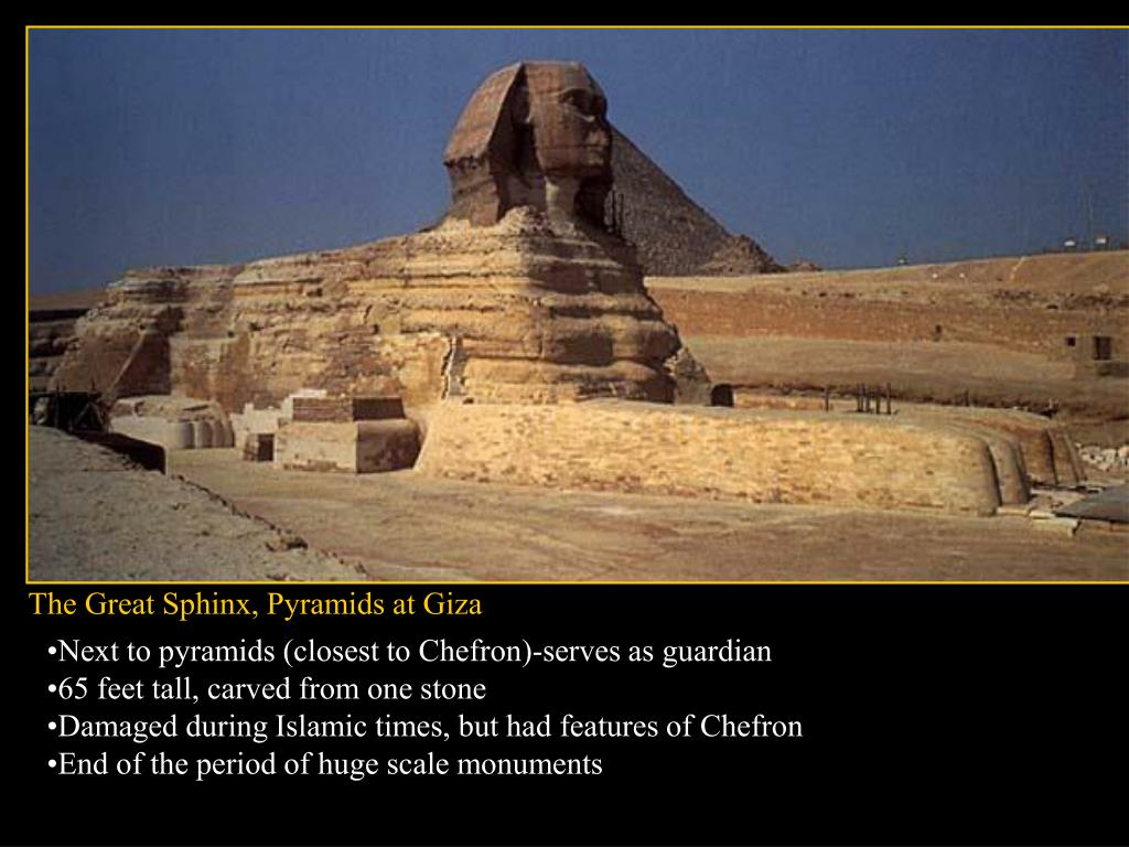 The Great Sphinx, Pyramids at Giza