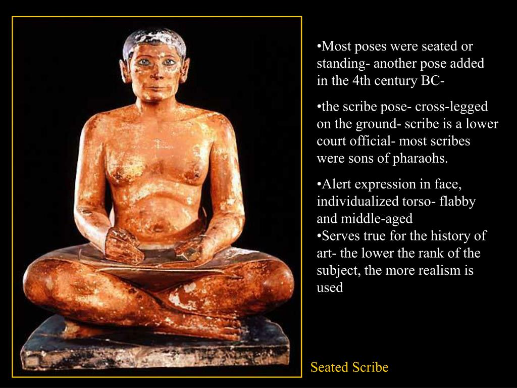Most poses were seated or standing-