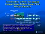 conservation is now the second largest single federal power firm energy resource