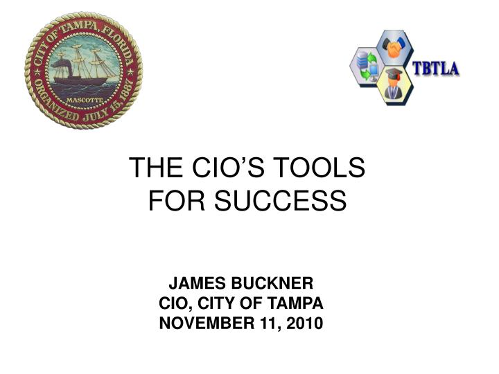 the cio s tools for success n.