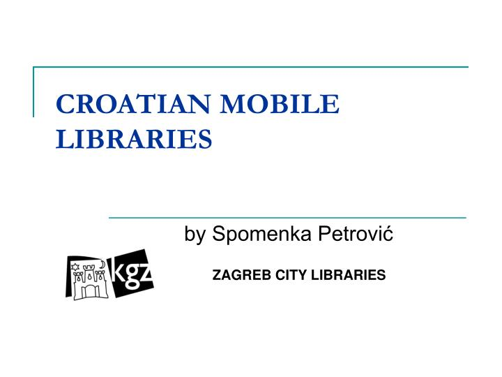 croatian mobile libraries n.