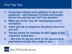 five top tips