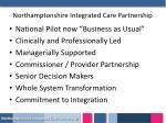 northamptonshire integrated care partnership