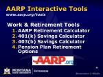 aarp interactive tools www aarp org tools
