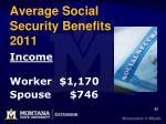 average social security benefits 2011