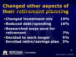 changed other aspects of their retirement planning