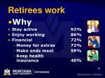 retirees work