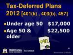 tax deferred plans 2012 401 k 403 b 457