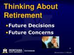 thinking about retirement