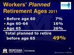 workers planned retirement ages 2011