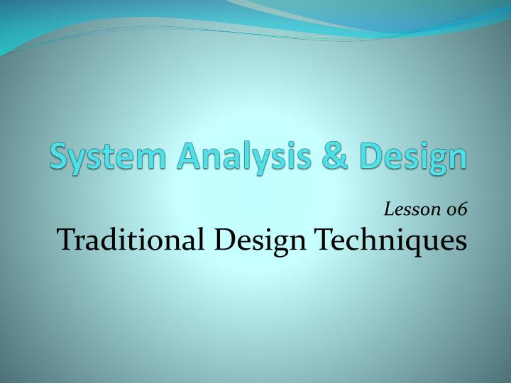 system analysis design n.