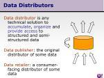 data distributors