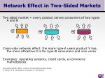 network effect in two sided markets