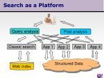 search as a platform