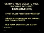 getting from quasi to full showing acquired distinctiveness