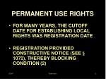 permanent use rights1