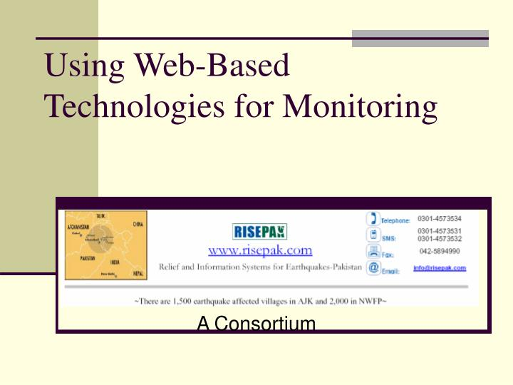 using web based technologies for monitoring n.