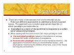 2 paradigms