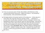 policies of sustainable fisheries management