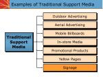examples of traditional support media
