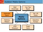 outdoor media options