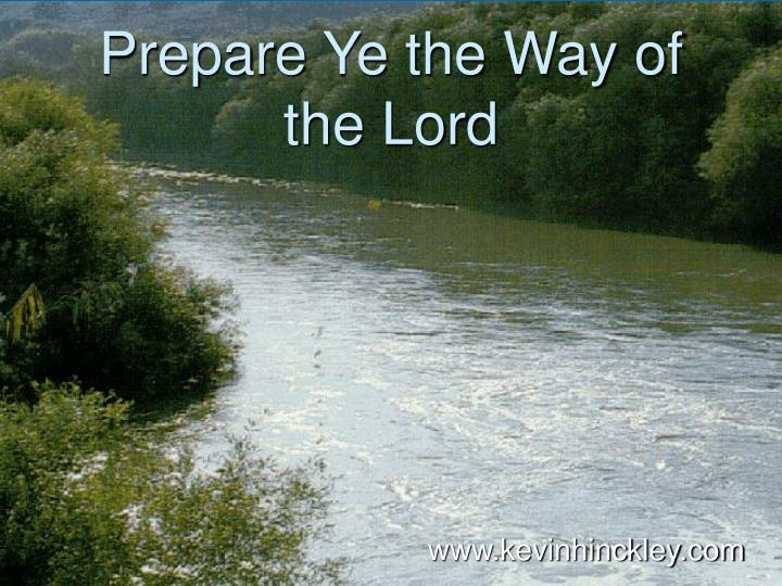 prepare ye the way of the lord n.