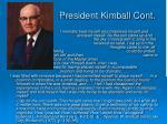 president kimball cont