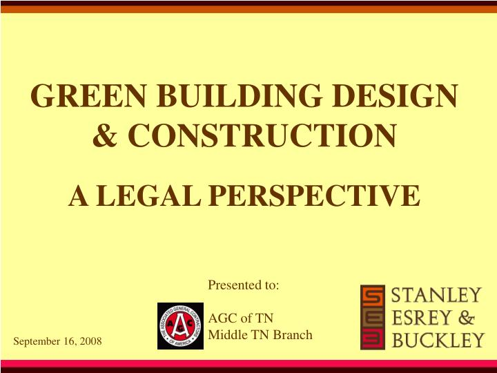 green building design construction n.