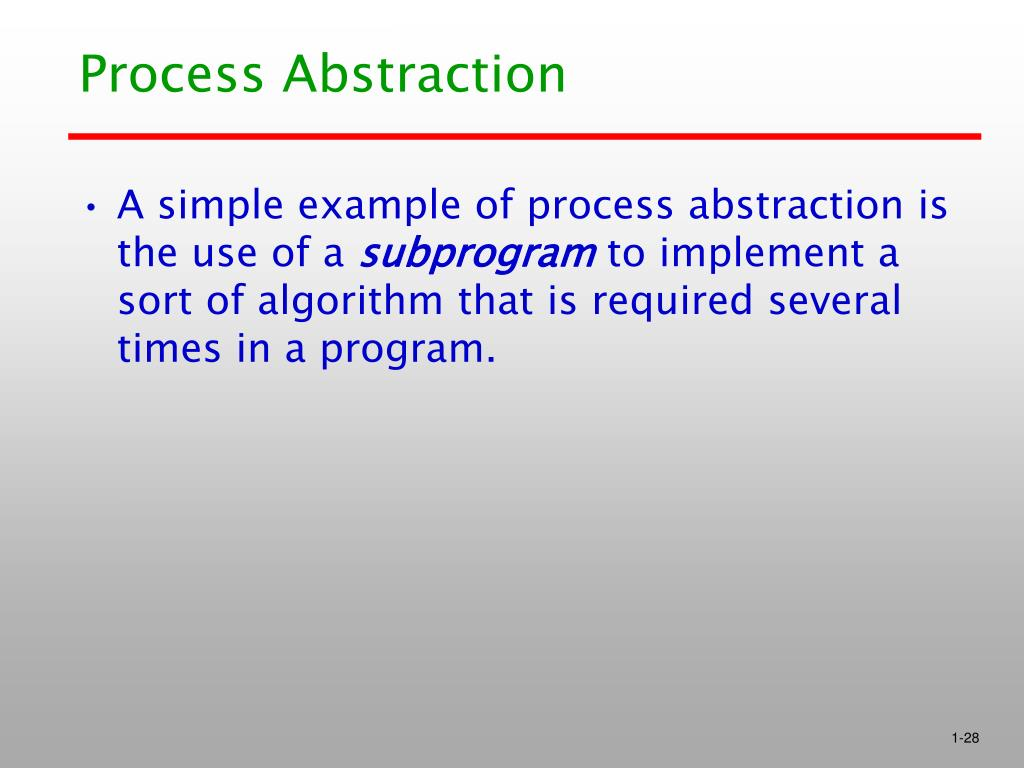 Process Abstraction