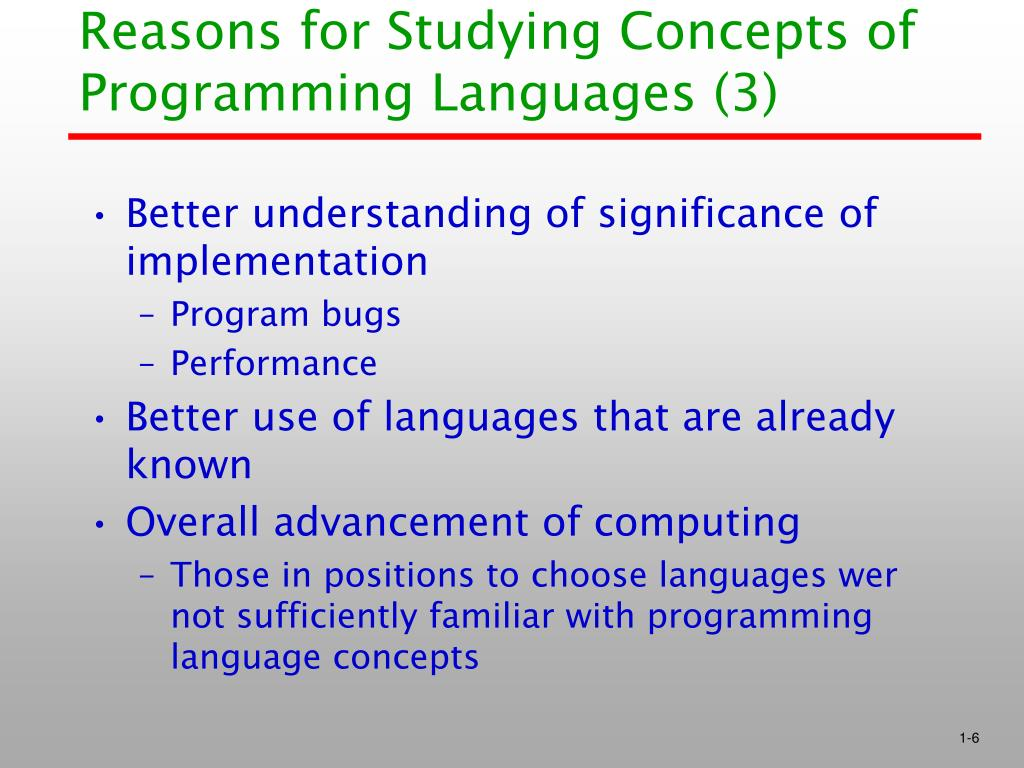 Reasons for Studying Concepts of Programming Languages (3)