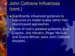 john coltrane influences cont