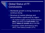 global status of ff conclusions